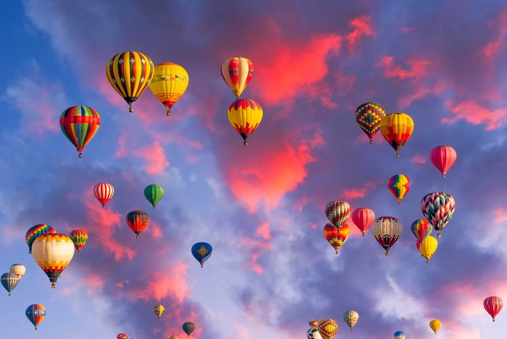 Balloons over Albuquerque, NM.