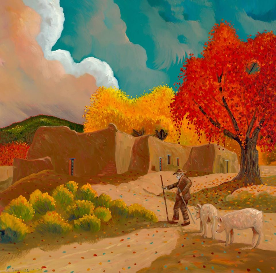 """The Bean Field"" Painting by Ed Sandoval http://edsandovalgallery.com/the-bean-field/"