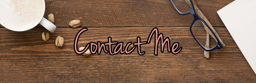 Contact me on wooden background