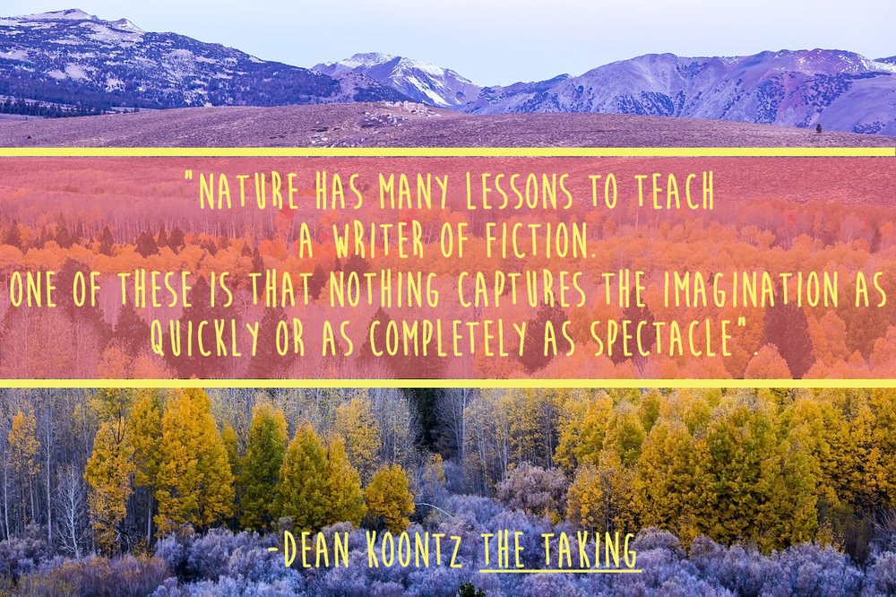 Dean Koontz Quote from Indie book cover design