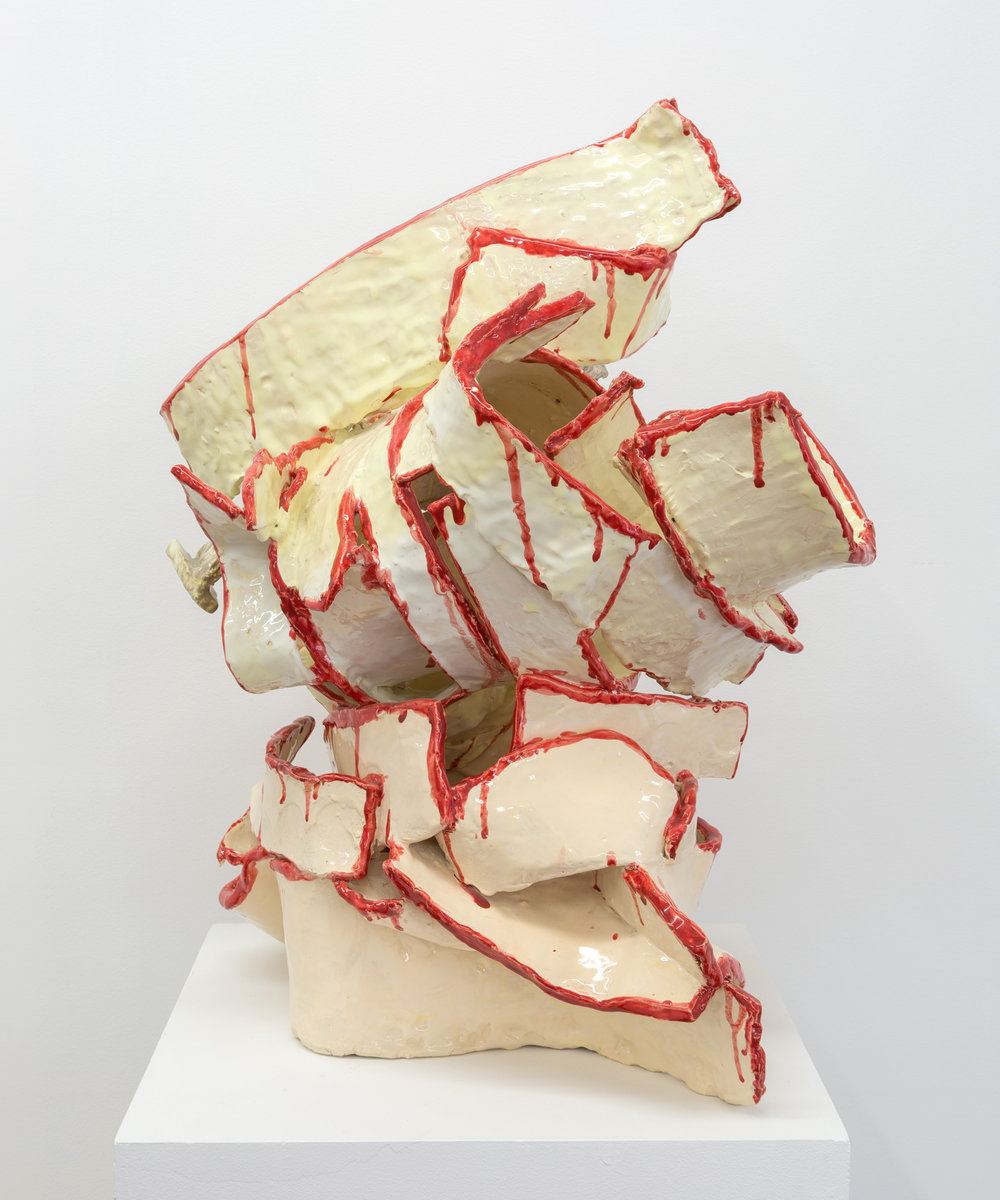 Too broke pieces, 2015 clay and glaze 30 x 21 x 22 in