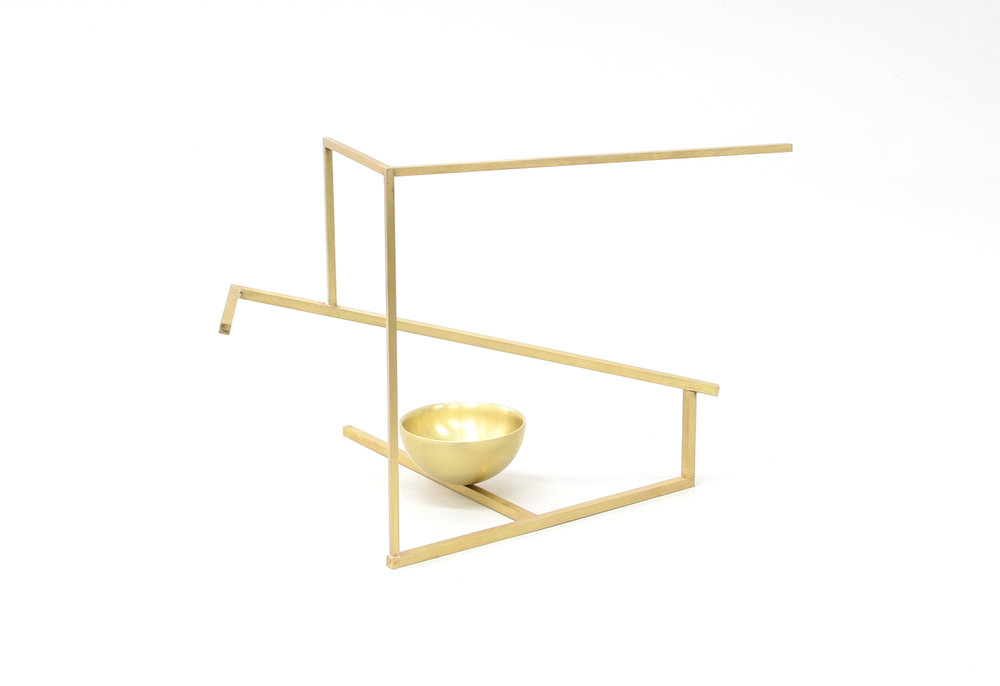 Untitled (S2.2), 2017 brass 8 1⁄2 x 11 1⁄2 x 8 1⁄2 in