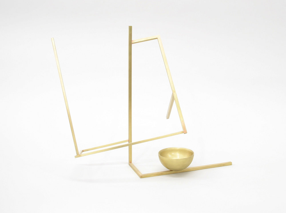 Untitled (S2.3), 2017 brass 12 1⁄4 x 14 x 9 in
