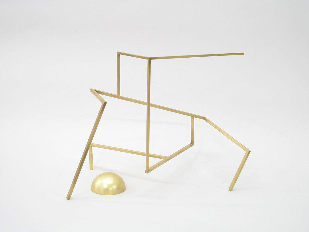 Untitled (S2.5) , 2017 brass 12 x 16 x 14 in