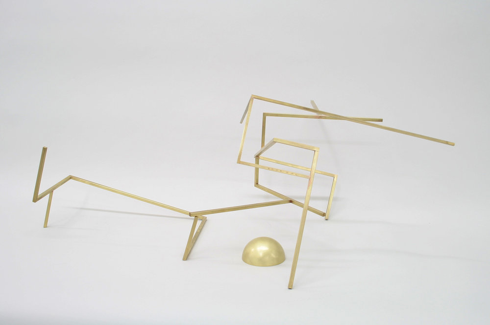 Untitled (S3.3), 2017 brass 11 1⁄2 x 27 1⁄2 x 16 in