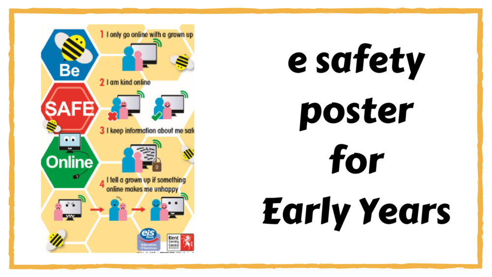 A nice simple e safety poster for younger children.