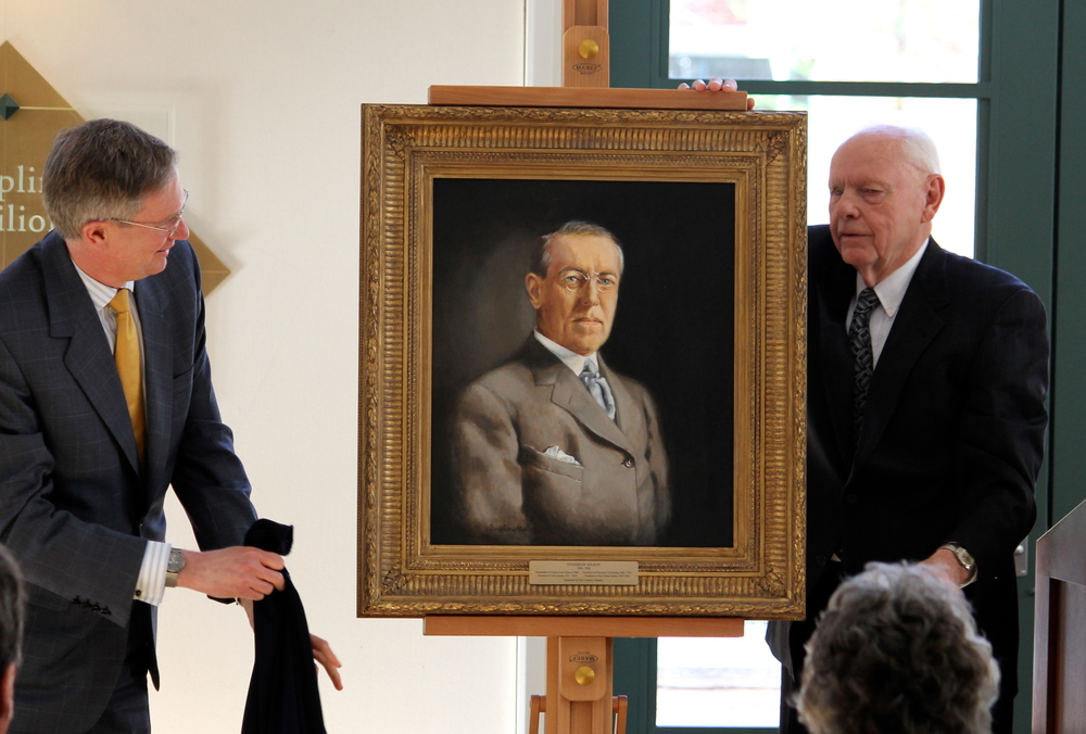 The University of Virginia School of Law unveils the portrait of President Woodrow Wilson by Nashville artist Ann Cowden
