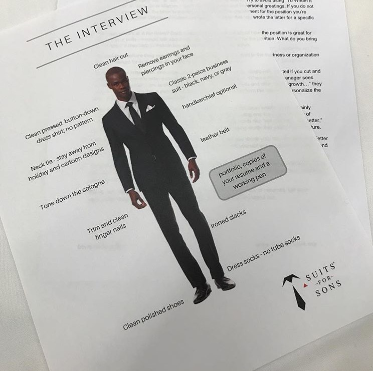 Suits for Sons handout for Interview Training