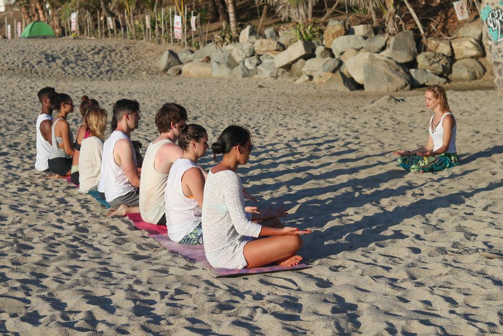 Oceanside meditation in Sayulita, Mexico