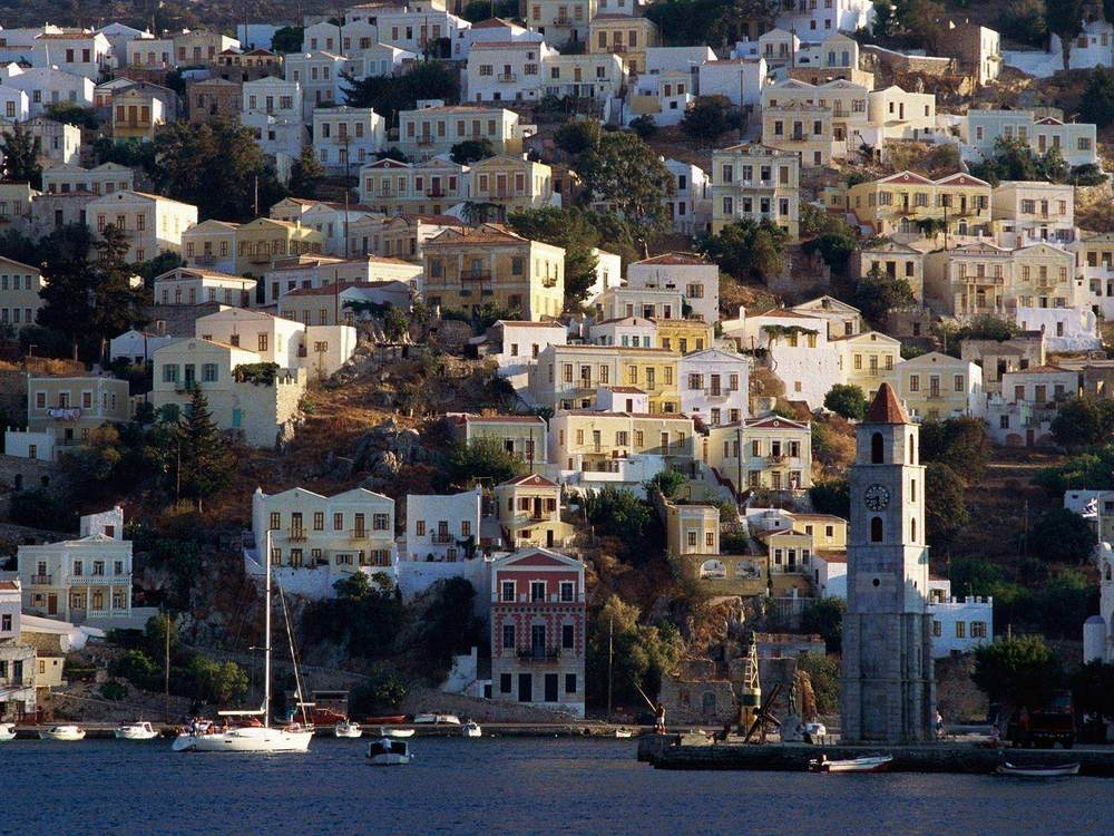 City of Chios on Chios Island, Greece