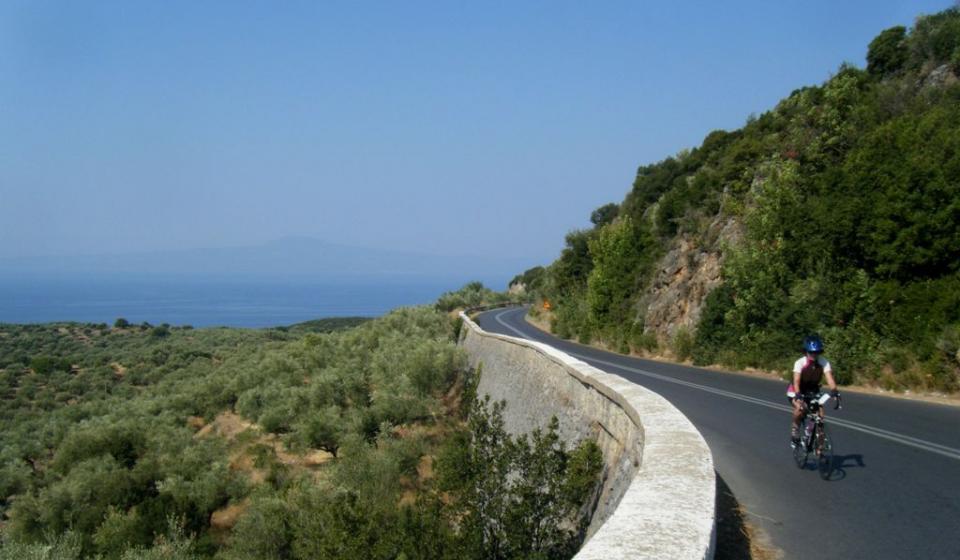 Riding the Climbs on Lesvos