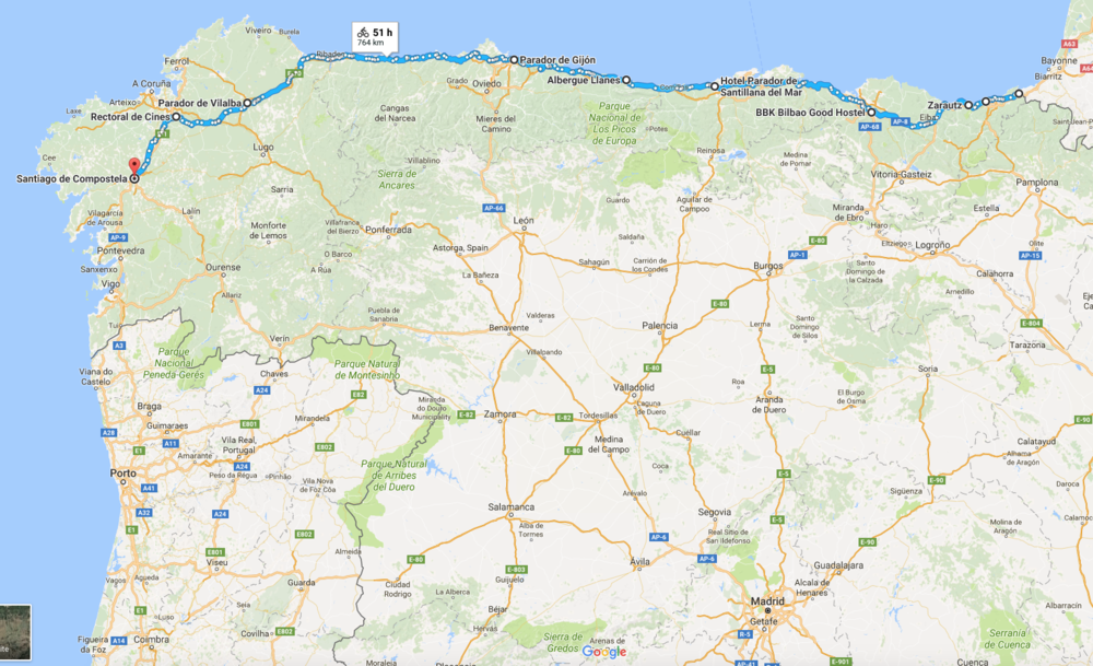 Camino del Norte 2018 Map.png