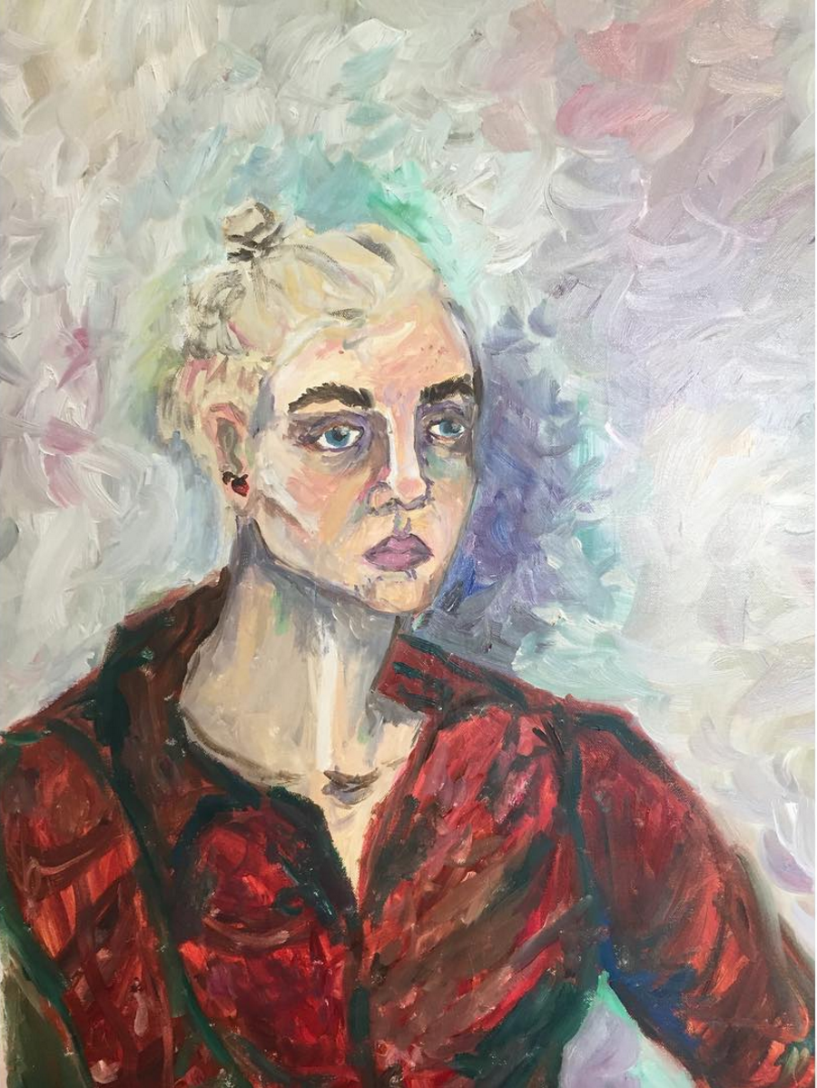 Self Portrait   oil on canvas