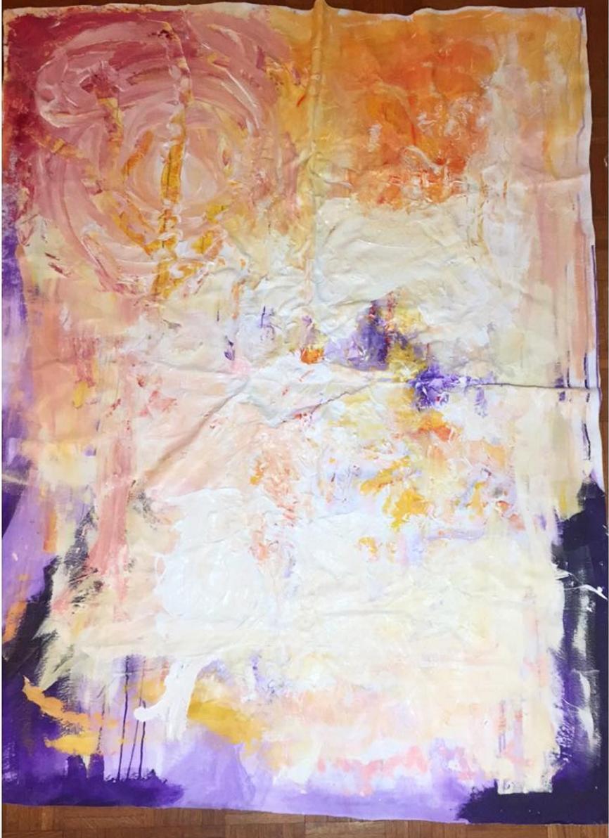 Overlay   acrylic and oil on canvas