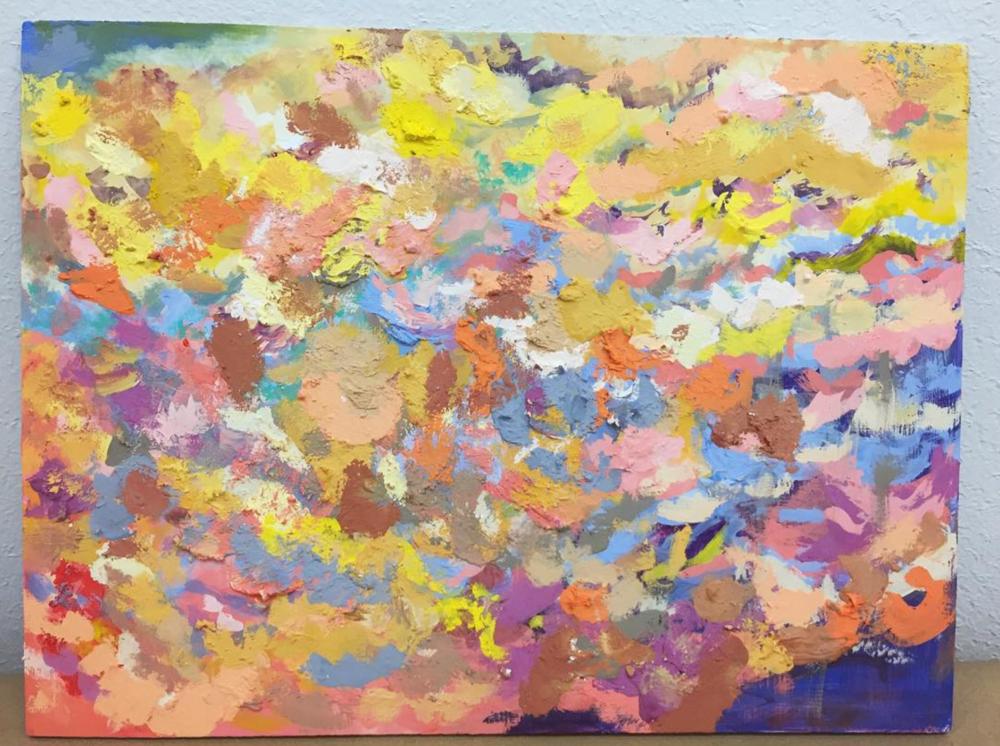 Untitled   distemper on panel