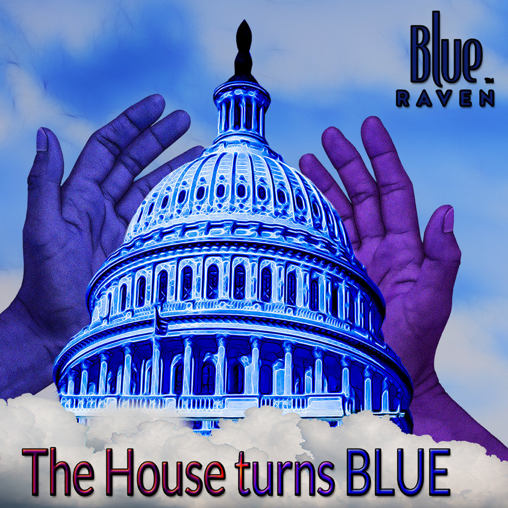 THE HOUSE turns blue