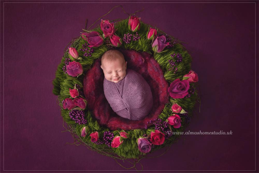 Almas Home Studio Newborn photographer based in Blandford Forum, Dorset