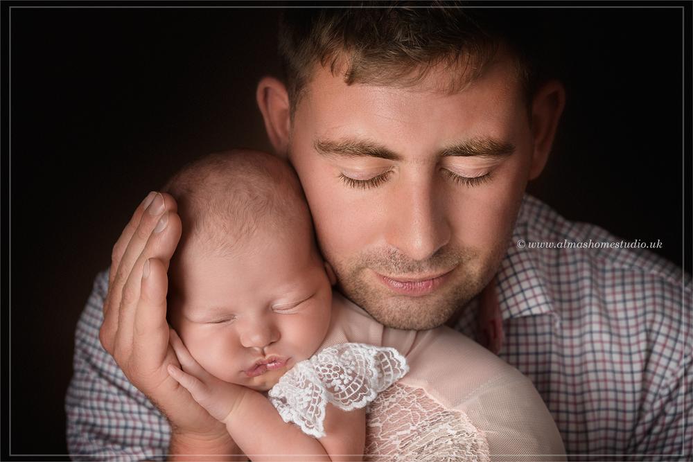 Almas home studio newborn photographer based in dorset
