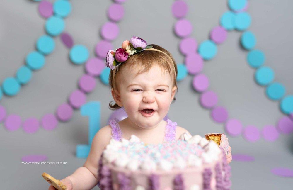 First Birthday Celebration Cake Smash Photographer based in Dorset