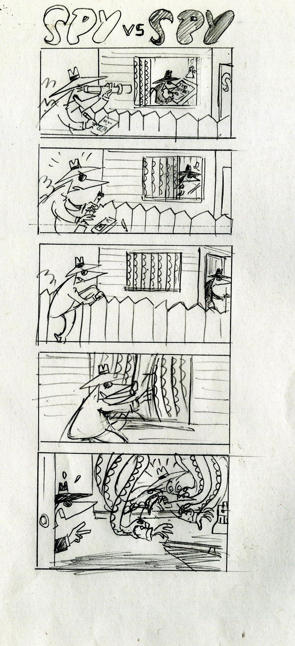 Spy sketch Snake curtain