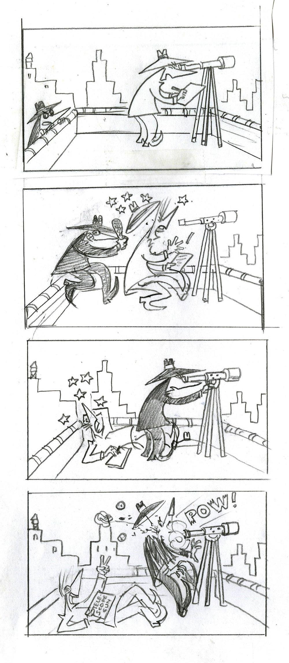 Spy sketch telescope gun