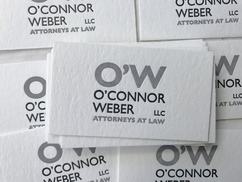 Projects letterpress pdx ow attorneys at law business cards reheart Images