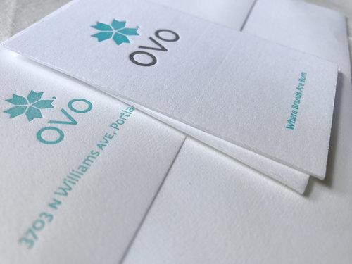 Ovo business cards stationery letterpress pdx ovo business cards stationery colourmoves