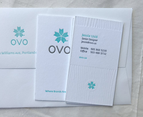 Ovo business cards stationery letterpress pdx ovo business cards stationery reheart Gallery