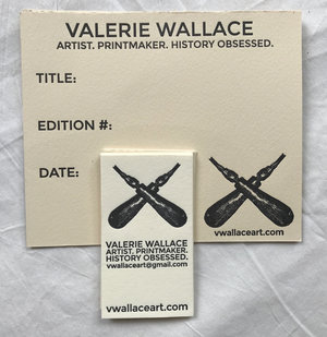 Valerie wallace business cards edition cards letterpress pdx reheart Image collections