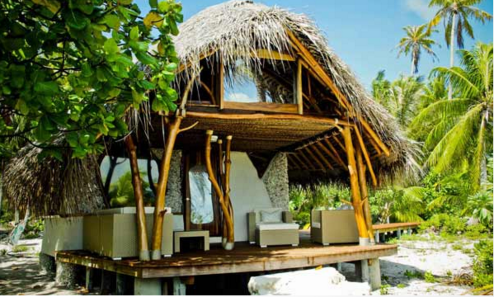 The unique beach bungalows you will be staying in before and after the expedition.