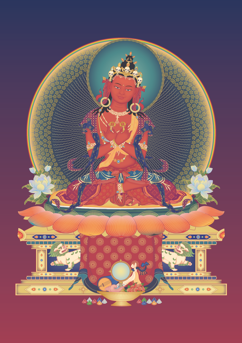Vajradharma 2 throne with offerings and background.png