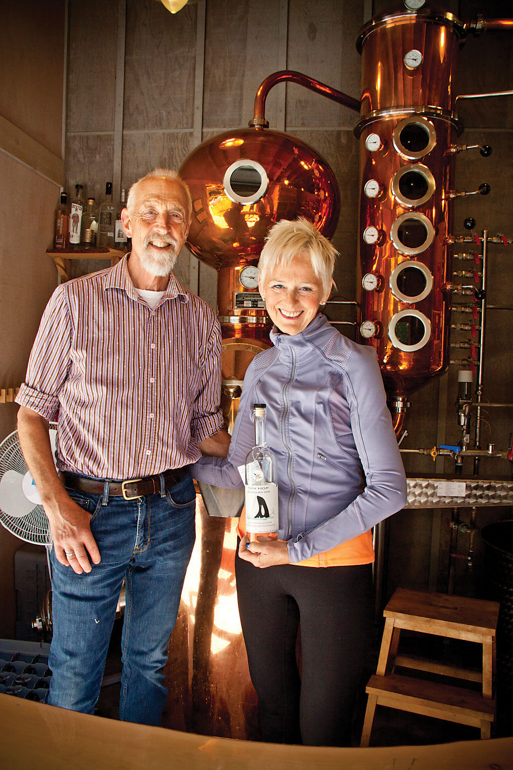 HAWK AND SUZIE PINGREE make their gin from apple spirits