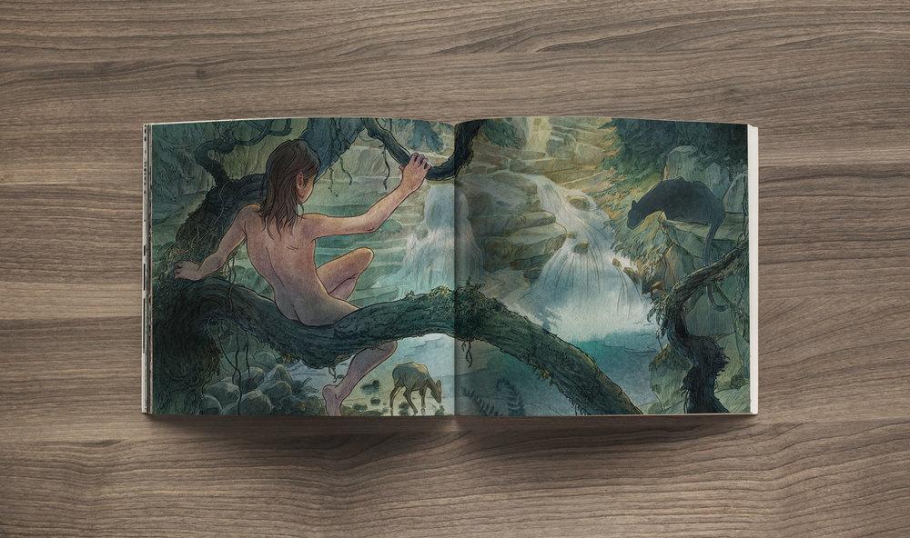 Mowgli and Bagheera, The Jungle Book