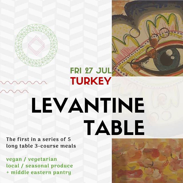 Ruzbowl is is popping upping! Tickets in bio 👆  Join us for the first in a series of 5 pop-up long table dinners that explore #Levantine cuisine by combining local seasonal produce with a rich and textured #middle-eastern #pantry.  We will start off with #Turkey, a country whose food is a fusion of Middle Eastern, Eastern European and Balkan cuisines.  Fri 27th July at 7pm -  #vegan/ #vegetarian 3-course meal at the beautiful Project Cafe. . . . . . #turkishfood #turkey #turkishfoods #dinner #turkish #travel #türkishfood #glasgowfood #glasgow #foodie #glasgowfoodie #instafood #food #foodlover #foodgram #glasgowfoodies #instafoodie #glasgowblogger #foodglasgow #foodreviews #bloggerglasgow #foodblogglasgow