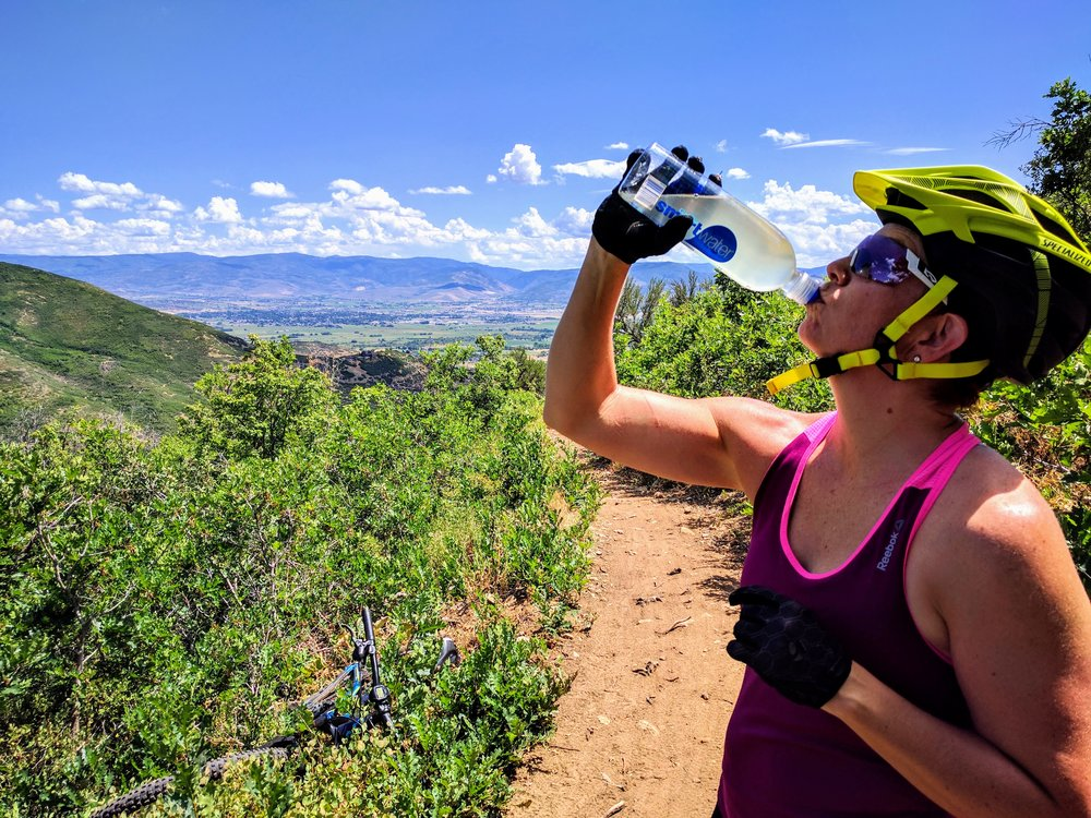 Robyn Ostlund - Ignited Health and Fitness - Certified Personal Trainer, Simplifying Nutrition and Fitness - mountain biking, hydrate, spryng