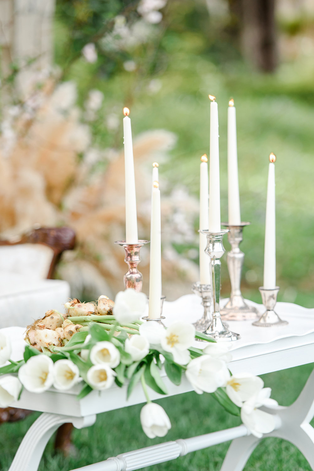 Garden Wedding Inspiration | Spring Wedding | White Tulips