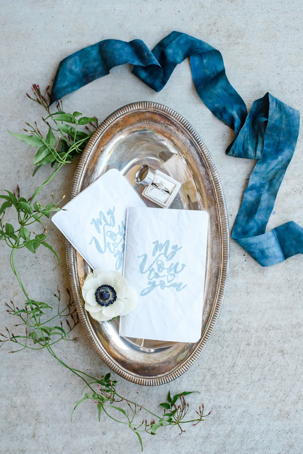 Wedding Band Photo | Wedding Flat Lay | Silk Ribbon