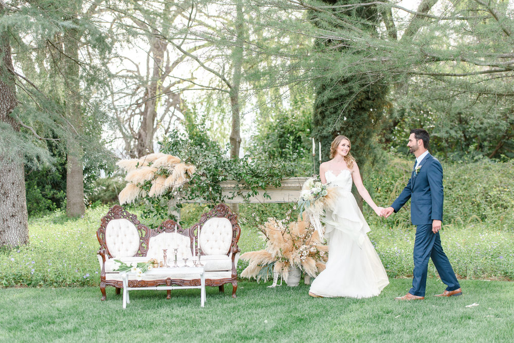Garden Wedding Inspiration | Wedding Lounge Seating