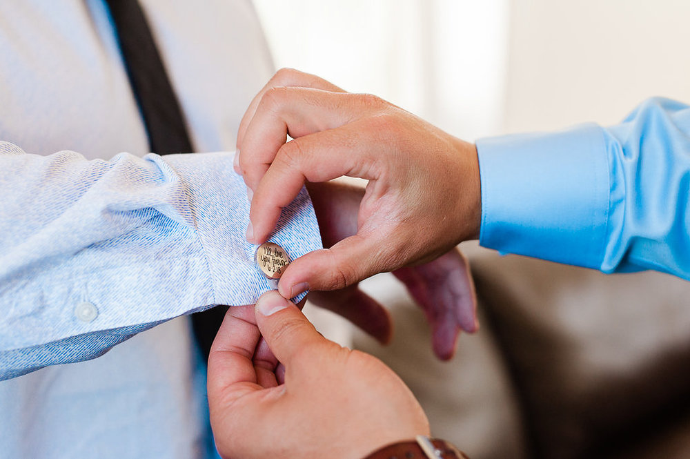 Park Winters Wedding | Custom Cuff Links