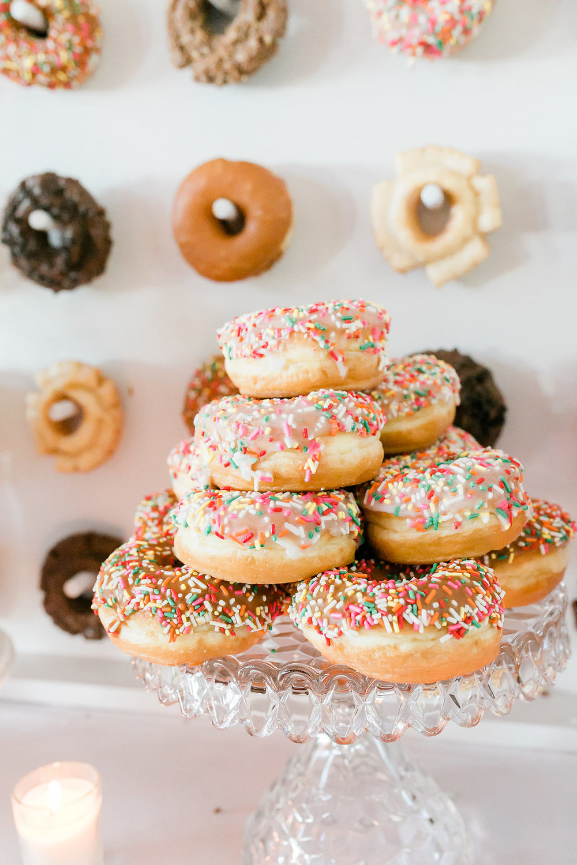 Park Winters Summer Wedding | Wedding Dessert | Wedding Donuts | Donut Wall | Unique Wedding Dessert Ideas