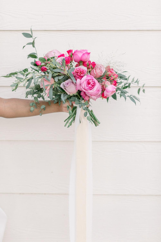 Pink Wedding | Feminine Wedding | Spring Wedding | Pink Wedding Flowers | Bridal Bouquet | Silk Ribbon