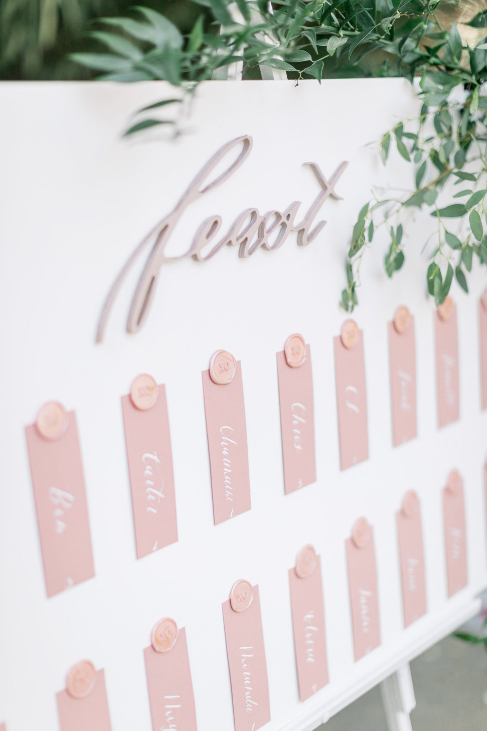 Pink Wedding | Feminine Wedding | Spring Wedding | Wedding Seating Chart | Wedding Calligraphy | Pink Wedding Flowers