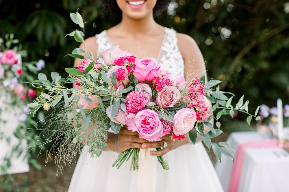 Pink Wedding | Feminine Wedding | Spring Wedding | Wedding Table Decor | Pink Wedding Flowers | Bridal Bouquet