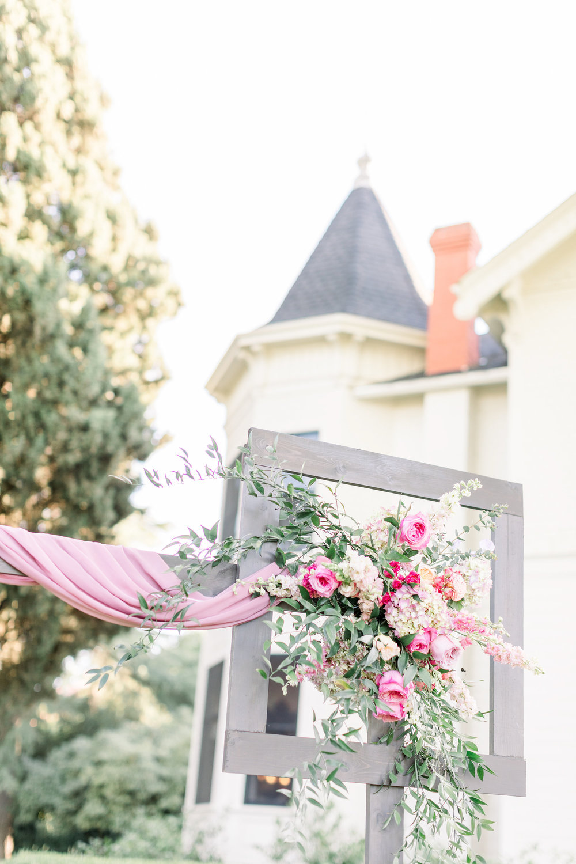 Pink Wedding | Feminine Wedding | Spring Wedding | Wedding Ceremony Arch | Unique Ceremony Arch