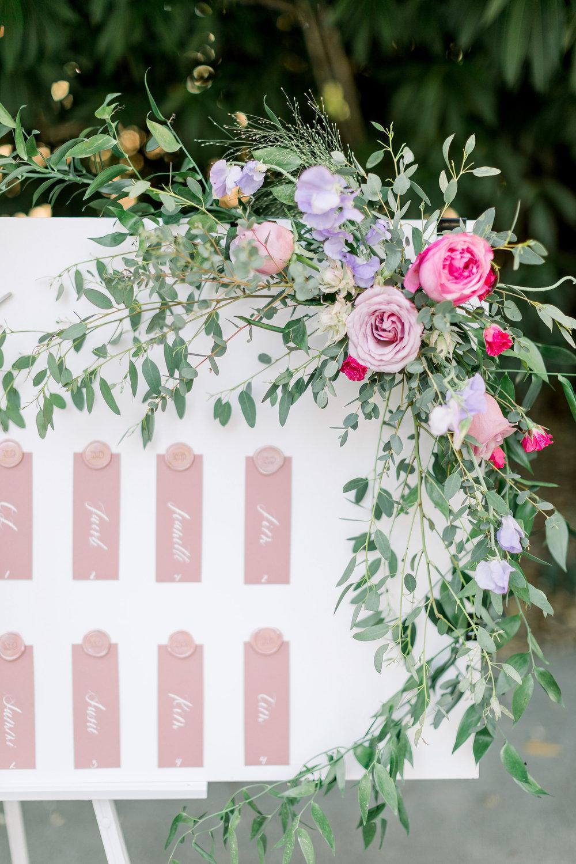 Pink Wedding | Feminine Wedding | Spring Wedding | Wedding Seating Chart | Wedding Calligraphy | Pink Wedding Flowers