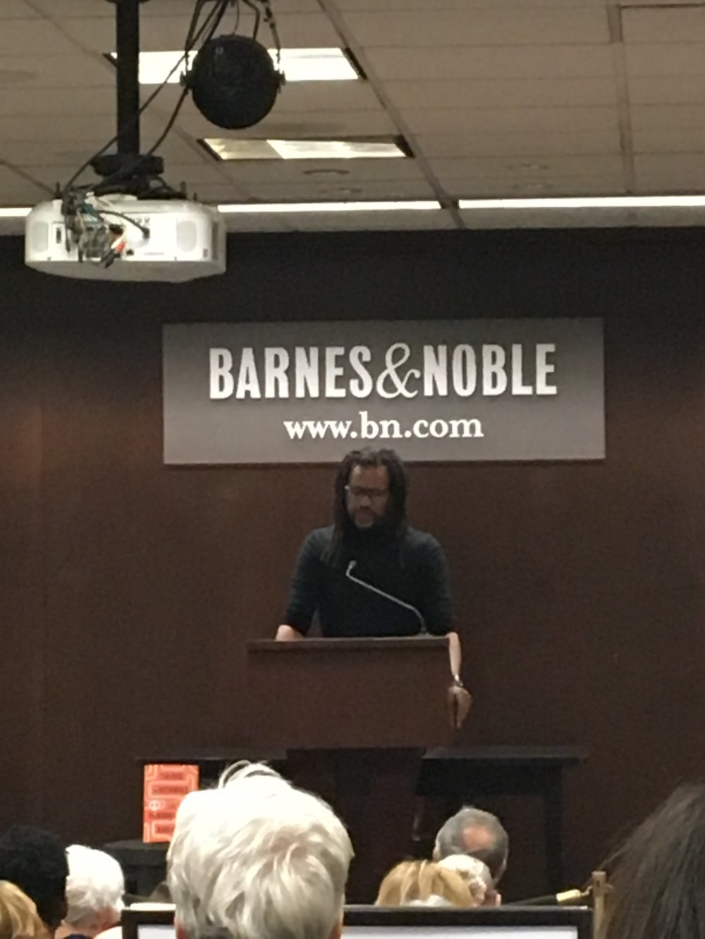 Colson Whitehead reads from his National Book-nominated novel The Underground Railroad at Barnes and Noble Upper West Side.