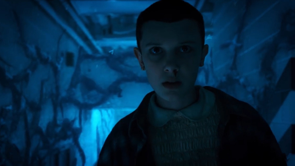 Eleven (Millie Bobby Brown) investigates the Upside Down.