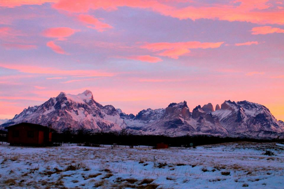 A morning wake-up for a day fill of outdoor adventure for Sara and her group in Torres del Paine, Chile.