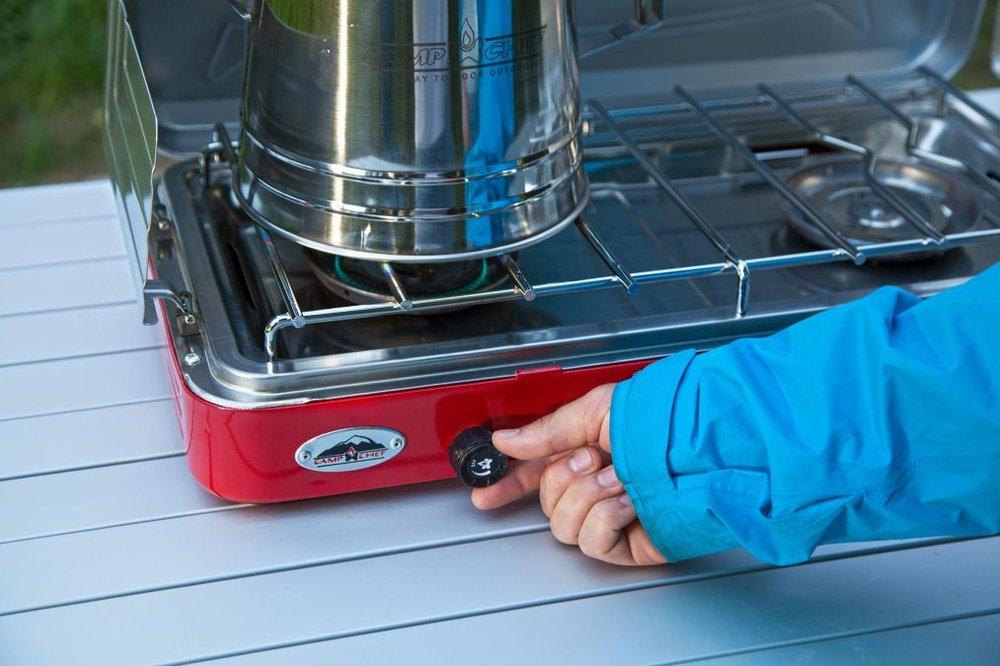 Everest Two Burner Camp Stove Lifestyle 4 | Tiny House Kitchen | Tiny Life Supply .jpg
