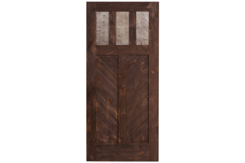 Rustica Hardware Exterior Chevron Swinging Door Exterior Doors